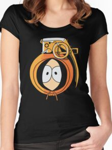 Combustible Orange Women's Fitted Scoop T-Shirt