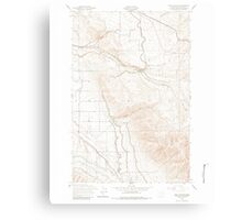 USGS Topo Map Washington State WA East Kittitas 240922 1953 24000 Canvas Print