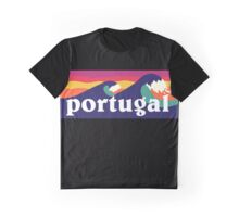 Portugal Surfing Waves Graphic T-Shirt