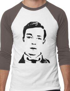 buster is sherlock, jr.  Men's Baseball ¾ T-Shirt
