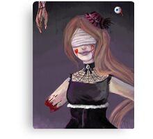 """""""Help Me"""" Goth Circus girl Canvas Print"""