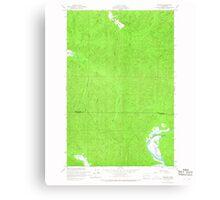 USGS Topo Map Washington State WA Western 244621 1956 24000 Canvas Print