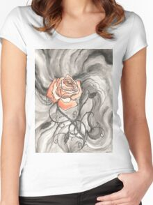 So Like a Rose Women's Fitted Scoop T-Shirt