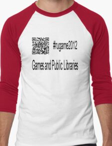 rugame2012 - Games and Public Libraries Men's Baseball ¾ T-Shirt
