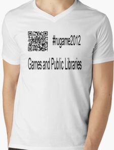 rugame2012 - Games and Public Libraries Mens V-Neck T-Shirt