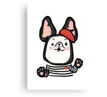 French Bulldog Mime Canvas Print
