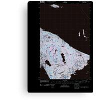 USGS Topo Map Washington State WA Mount Constitution 20110418 TM Inverted Canvas Print