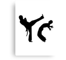 Capoeira Canvas Print