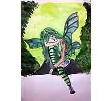 Green Gothic Fairy Photographic Print