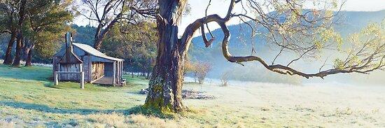 Oldfields Hut, Kosciuszko National Park, Australia by Michael Boniwell