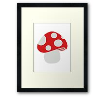 Toadstool fly agaric Framed Print