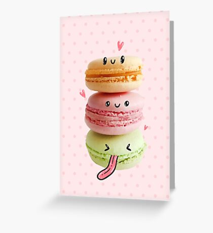 Funny Macarons Greeting Card