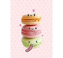 Funny Macarons Photographic Print