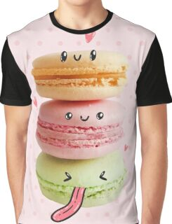 Funny Macarons Graphic T-Shirt