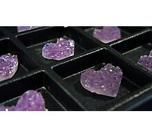 Purple Hearts Photographic Print