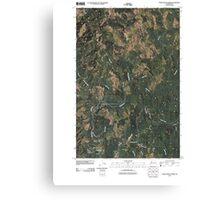 USGS Topo Map Washington State WA Upper Naselle River 20110502 TM Canvas Print