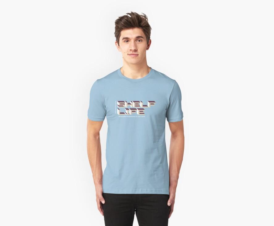 Shelf Life (blue t-shirt) by Tsalis