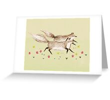Running Foxes Greeting Card