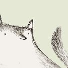 Gray Fluffy Wolf by Sophie Corrigan