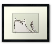 Gray Fluffy Wolf Framed Print