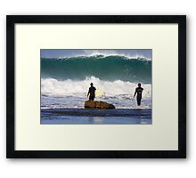Winkipop Paddle Out Framed Print
