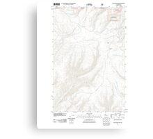 USGS Topo Map Washington State WA Colockum Pass 20110601 TM Canvas Print