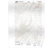 USGS Topo Map Washington State WA Colockum Pass 20110601 TM Poster