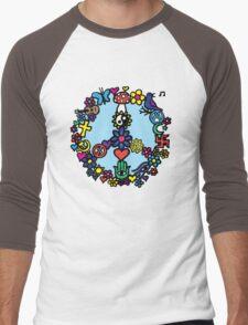 Peace Sign Men's Baseball ¾ T-Shirt