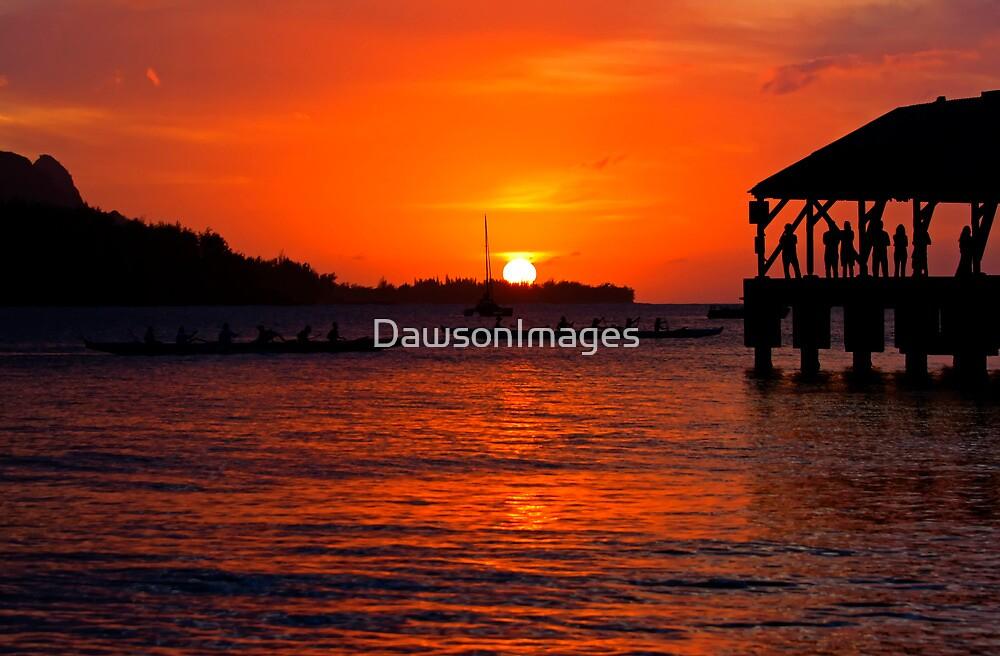 Hanalei Sunset by DawsonImages