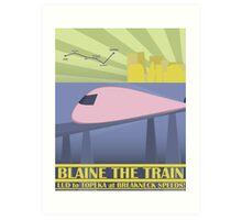 Travel Blaine Rail Art Print