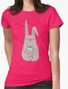 Bunny Tea lover Womens Fitted T-Shirt