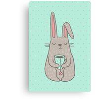 Bunny Tea lover Canvas Print