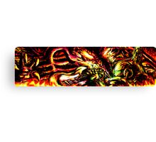 Metroid Metal: Ridley- Through the Fire.. Canvas Print