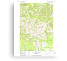 USGS Topo Map Washington State WA Diamond Peak 240853 1967 24000 Canvas Print