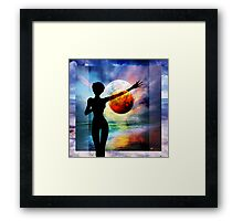 1-10 HALF FULL Framed Print