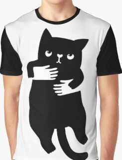 Negative space hand cat Graphic T-Shirt