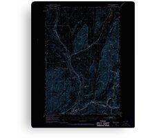 USGS Topo Map Washington State WA Benge 240014 1950 62500 Inverted Canvas Print