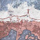 Rio de Janeiro skyline - vintage map by Paula Belle Flores