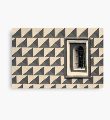 Geometric Old Wall Pattern Canvas Print