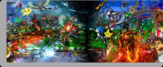 Nintendo Vs Sega by LightningArts