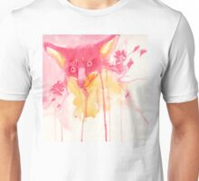 Cherry Blossom Fox Kitsune Watercolor  Unisex T-Shirt