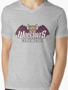 White Falls Wolfbats Mens V-Neck T-Shirt