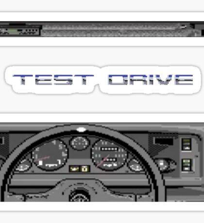 Test Drive - C64  Sticker