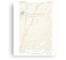 USGS Topo Map Washington State WA Lind 242018 1970 24000 Canvas Print