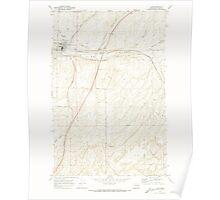 USGS Topo Map Washington State WA Lind 242018 1970 24000 Poster