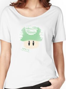1-UP mushroom -scribble- Women's Relaxed Fit T-Shirt