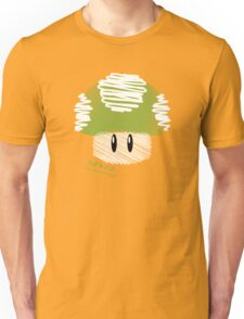 1-UP mushroom -scribble- Unisex T-Shirt
