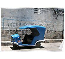 Blue Taxi Havana Poster