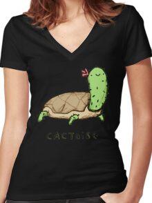 Cactoise Women's Fitted V-Neck T-Shirt