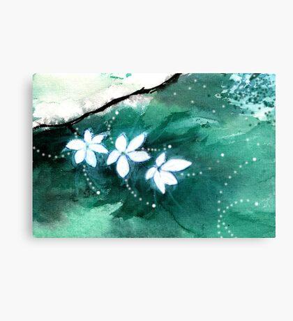 White Flowers 2 Canvas Print